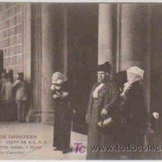 Postales: POSTAL MILITAR, ACADEMIA DE INFANTERIA DE TOLEDO CURSO 1913-14, VISITA DE S.S. M.M. INFANTAS ISABEL . Lote 7862901