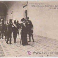 Postales: POSTAL MILITAR, ACADEMIA DE INFANTERIA DE TOLEDO CURSO 1913-14, VISITA DE S. M. LA REINA. Lote 7862932