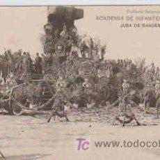 Postales: POSTAL MILITAR, ACADEMIA DE INFANTERIA DE TOLEDO CURSO 1913-14, JURA DE BANDERA, MISA. Lote 7862966