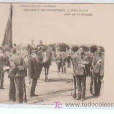 Postales: POSTAL MILITAR, ACADEMIA DE INFANTERIA DE TOLEDO CURSO 1913-14, JURA DE LA BANDERA. Lote 7862988