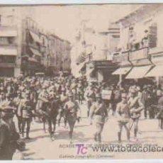 Postales: POSTAL MILITAR, ACADEMIA DE INFANTERIA DE TOLEDO CURSO 1913-14,EN MARCHA PARA EL CAMPAMENTO. Lote 7863041