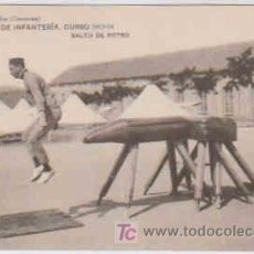 Postales: POSTAL MILITAR, ACADEMIA DE INFANTERIA DE TOLEDO CURSO 1913-14, SALTO DE POTRO. Lote 7863172