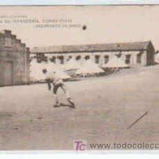 Postales: POSTAL MILITAR, ACADEMIA DE INFANTERIA DE TOLEDO CURSO 1913-14, LANZAMIENTO DEL DISCO. Lote 7863216