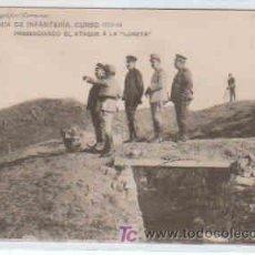 Postales: POSTAL MILITAR, ACADEMIA DE INFANTERIA DE TOLEDO CURSO 1913-14,PRESENCIANDO EL ATAQUE A LA LUNETA. Lote 7863282