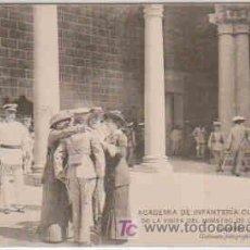 Postales: POSTAL MILITAR, ACADEMIA DE INFANTERIA DE TOLEDO CURSO 1913-14, VISITA MINISTRO GUERRA GEN. LUQUE. Lote 7863354