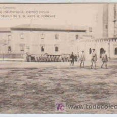 Postales: POSTAL MILITAR, ACADEMIA DE INFANTERIA DE TOLEDO CURSO 1913-14,DESFILE DE S.M. ANTE M. POINCARE. Lote 7863441