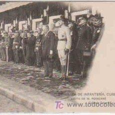 Postales: POSTAL MILITAR, ACADEMIA DE INFANTERIA DE TOLEDO CURSO 1913-14, VISITA DE M. POINCARE. Lote 7863496