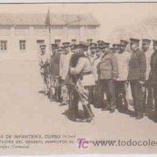 Postales: POSTAL MILITAR, ACADEMIA DE INFANTERIA DE TOLEDO CURSO 1913-14, FELICITACION AL GENERAL DIRECTOR. Lote 7863554