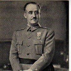 Postales: POSTAL DE FRANCISCO FRANCO - S.E. GENERALISIMO -FOTO JALON - FOTOGRAFO DE ZARAGOZA. Lote 128737728