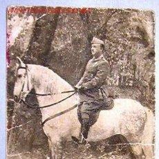 Postales: POSTAL DE FRANCO A CABALLO.. Lote 18443169
