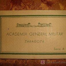 Postales: POSTALES ACADEMIA GENERAL MILITAR ZARAGOZA.. Lote 3033314