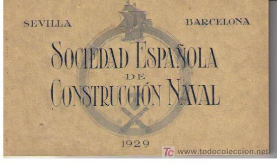 SOCIEDAD ESPAÑOLA DE CONSTRUCCIÓN NAVAL. SEVILLA-BARCELONA 1929. LIBRITO 8 POSTALES DE CAÑONES (Postales - Postales Temáticas - Militares)