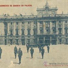 Postales: MADRID. PALACIO REAL. CARABINEROS DE GUARDIA. HACIA 1910.. Lote 10176933