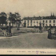 Postales: POSTAL PARIS. LES INVALIDES. PASEO DE LOS CAÑONES. ANIMADA.. Lote 27479721