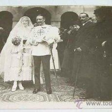 Postales: ANTIGUA FOTO POSTAL DE LA BODA DE UN OFICIAL ESPAÑOL - NO CIRCULADA.. Lote 11491231