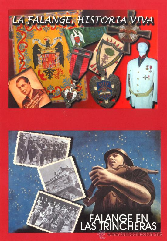 DOS POSTALES DE FALANGE FALANGE EN LAS TRINCHERAS Y LA FALANGE, HISTORIA VIVA (Postales - Postales Temáticas - Militares)