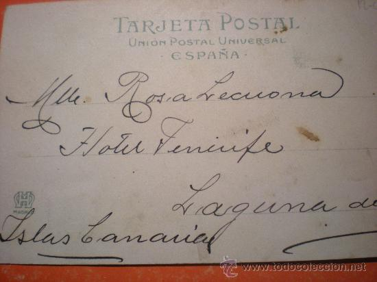 Postales: TARJETA POSTAL MARINA ESPAÑOLA - CAÑONERO DE 1ª DOÑA MARIA DE MOLINA -AÑO 1903 - Foto 2 - 23214606