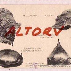 Postales: ANTIGUA POSTAL REAL ARMERIA MADRID BORGOÑOTA DOS CAPACETES FOTOTIPIA HAUSER MENET. Lote 12575913