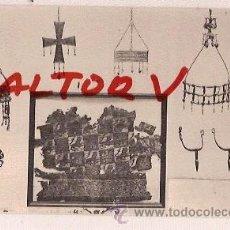 Postales: ANTIGUA POSTAL REAL ARMERIA MADRID CORONA Y CRUZ VOTIVA VISIGODA S.VII FOTOTIPIA HAUSER MENET. Lote 12575934