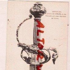 Postales: ANTIGUA POSTAL REAL ARMERIA MADRID ESPADA DEL CONDE DE CORUÑA S.XVI FOTOTIPIA HAUSER MENET. Lote 12575943