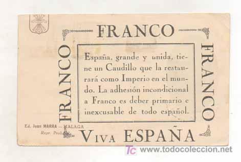 Postales: POSTAL MILITAR. GENERAL VARELA. ESPAÑA, UNA, GRANDE, LIBRE. (ED. JUAN MARRA.) MATASELLADA 1937. - Foto 2 - 16174178