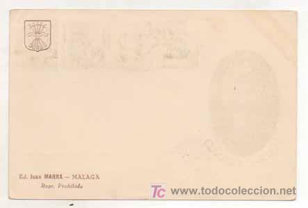 Postales: POSTAL MILITAR. GENERAL FRANCO. ESPAÑA, UNA, GRANDE, LIBRE. ED. JUAN MARRA, MALAGA. MATASELLADA. - Foto 2 - 16174175