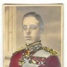 Postales: ANTIGUA POSTAL DE ALFONSO XIII - CON RELIEVE ACOLCHADO, EN LA FOTO NO SE APRECIA LO CURIOSA QUE ES, . Lote 27415987