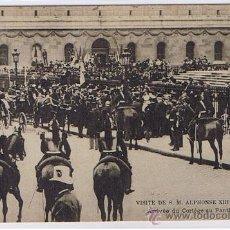 Postales: VISITA DE ALFONSO XIII A PARIS, MUY BONITA POSTAL, SELLADA Y RESELLADA, FECHADA 1905. Lote 26167566