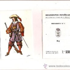 Postales: 18 POSTALES DE UNIFORMES MILITARES DE ESPAÑA 1ª SERIE EDITORIAL EDUFRANC EN SU ESTUCHE ORIGINAL. Lote 16531789