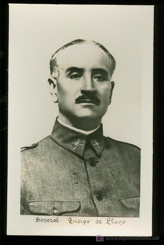 TARJETA POSTAL DEL GENERAL QUEIPO DE LLANO. (Postales - Postales Temáticas - Militares)