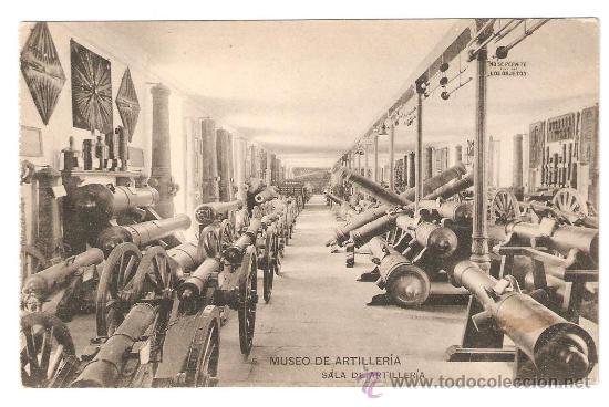 MUSEO DE ARTILLERIA. SALA DE ARTILLERIA. FOTOTIPIA DE HAUSER Y MENET (Postales - Postales Temáticas - Militares)