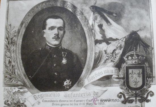 ANTIGUA POSTAL GUERRA DEL RIF - SOLDADO D. SALVADOR MIGUEL FIGUEROLA, DEL REGIMIENTO DE BORBON Nº 17 (Postales - Postales Temáticas - Militares)