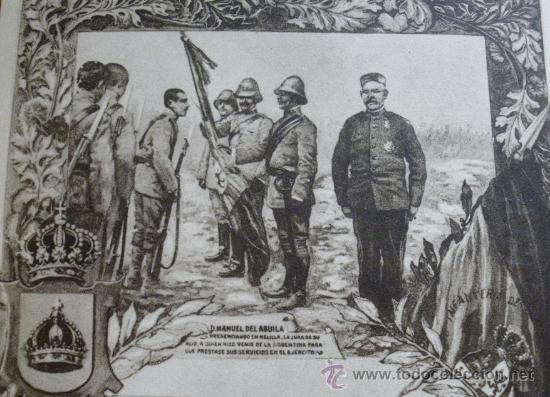 ANTIGUA POSTAL DEL SOLDADO D. MANUEL DEL AGUILA, DEL REGIMIENTO TOLEDO Nº 35 - 2ª GUERRA CARLISTA - (Postales - Postales Temáticas - Militares)