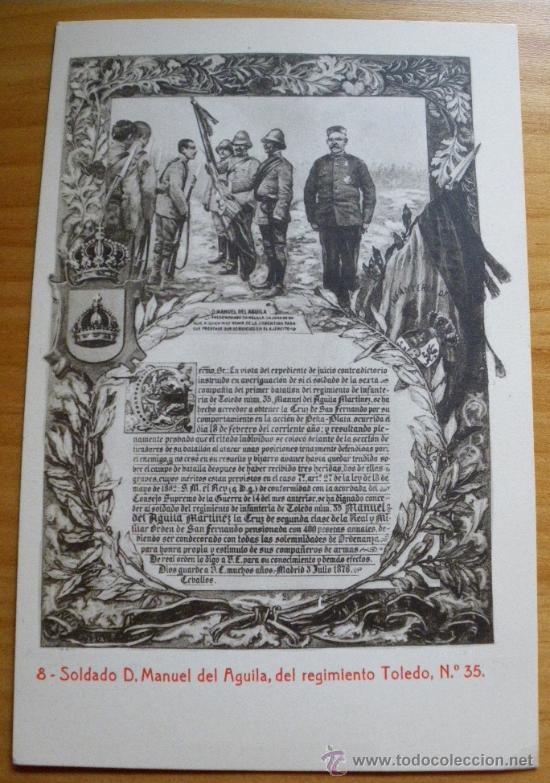 Postales: ANTIGUA POSTAL DEl SOLDADO D. MANUEL DEL AGUILA, DEL REGIMIENTO TOLEDO Nº 35 - 2ª GUERRA CARLISTA - - Foto 2 - 27207688