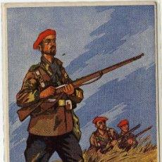 Postales: MAGNIFICA POSTAL - LOS SALVADORES DE ESPAÑA - REQUETÉ . Lote 18990568