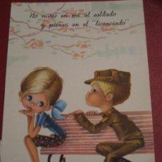 Postales: POSTAL CARICATURA MILITAR. CIRCULADA 1994. Lote 17490732