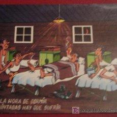 Postales: POSTAL CARICATURA MILITAR. CIRCULADA 1968. Lote 24042966