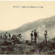 Postales: TETUAN. BATERIA DE ARTILLERIA EN ACCIÓN. SIN CIRCULAR.. Lote 27118637