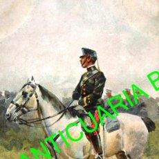 Postales: OFICIAL MONTADO EN SU CABALLO. THOMAS. AÑO 1907 (14 X 9 CM). Lote 17928666
