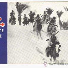 Postales: TARJETA POSTAL: FUERZAS FRANCE LIBRE / SPAHIS EN EL DESIERTO / AÑOS 40 - 50. Lote 27590045