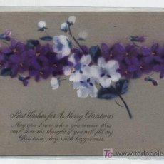 Postales: POSTAL NAVIDEA. INGLESA. PINTADA A MANO.. Lote 18872198