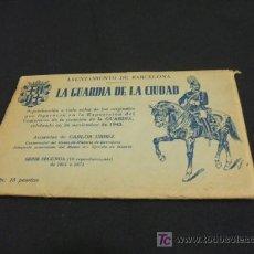 Postales: AYUNTAMIENTO DE BARCELONA - LA GUARDIA DE LA CIUDAD - 10 ACUARELAS DE CARLOS URBEZ - SERIE 2ª - . Lote 26803177