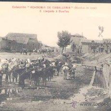 Postales: COLECCIÓN ACADEMIA DE CABALLERÍA.-MARCHAS DE 1909.- LLEGADA A DUEÑAS. Lote 22970232