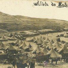 Postales: MELILLA. TAFERSIT. CAMPAMENTO Y CARRUAJES. HACIA 1905. POSTAL FOTOGRÁFICA.. Lote 26875699