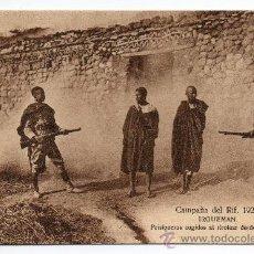 Postales: CAMPAÑA DEL RIF. AÑO 1921. IRGUEMAN. PRISIONEROS COGIDOS AL TIROTEAR DESDE UNA CASA.. Lote 73884489
