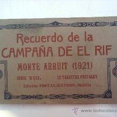 Postales: SERIE VIII DE 12 POSTALES - COMPLETA , RECUERDO DE LA CAMPAÑA DE EL RIF MONTE ARRUIT 1921. Lote 25913757