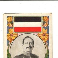 Postales: BONITA POSTAL DEL AÑO 1909, EL EMPERADOR DE ALEMANIA Y PRUSIA GUILLERMO II. Lote 26365568