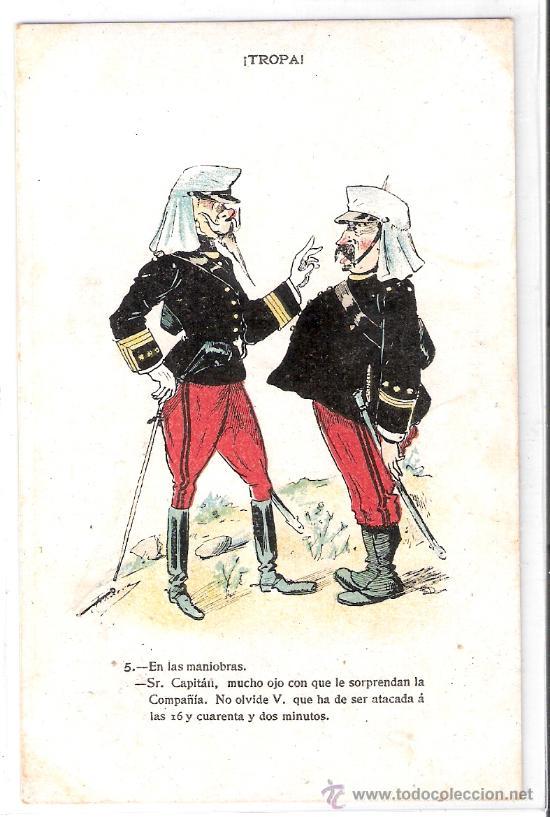 TROPA - COLECCION 10 POSTALES ILUSTRADAS POR FRADERA - VER FOTOS- (B-35) (Postales - Postales Temáticas - Militares)