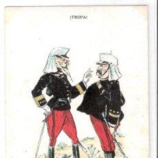 Postales: TROPA - COLECCION 10 POSTALES ILUSTRADAS POR FRADERA - VER FOTOS- (B-35). Lote 27396907