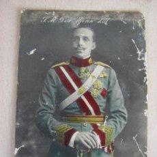 Postales: TARJETA POSTAL DE D. ALFONSO XIII REY DE ESPAÑA. Lote 28013335